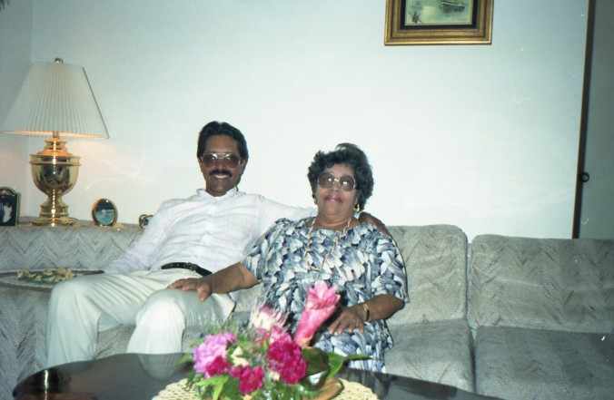 Dominga Antonia Veras Jerez and son, Silvio Augusto Veras, Miami 1992