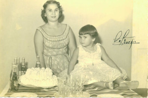 Carmen Permuy and Lupe Permuy-Leyva's birthday party in 1950s Cuba before Castro