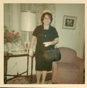 Isabel Permuy (Benito Permuy's sister) in Lansing, Michigan. July 1965