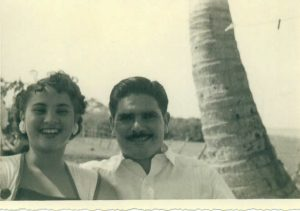 Carmen and Benito Permuy, newlyweds in Cuba