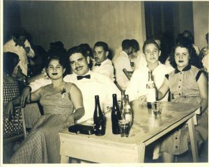 A night out in Cuba. Left to right: Carmen Canete Permuy, Benito Permuy, Pocholo and Manuela Permuy
