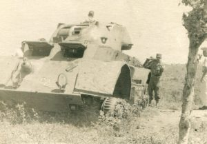 Military tank of the Castro Organization in Cuba near the Permuy or Lamelas residence