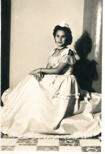 Carmen Canete, age 12, winner of Manzanillo Beauty Pageant in Cuba, 1940s