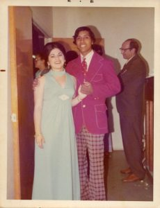 Maria and Silvio Veras at Wedding of Magdiel and Olgita, April 6, 1974