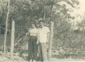 Carmen and Benito Permuy in Cuba before Castro. Visiting some friends.