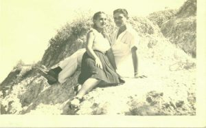 Newlyweds Carmen and Benito Permuy in Cuba before Castro