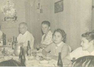Carmen Permuy. dinner party in Cuba before Castro