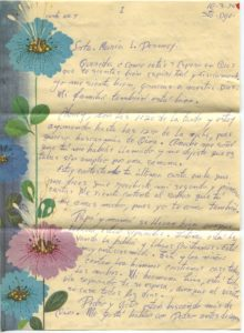 Letter from Silvio Veras to Maria 10-3-1975, page 1