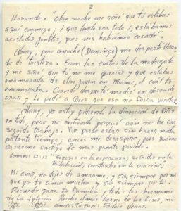 Letter from Silvio Veras to Maria 10-27-1975, page 2
