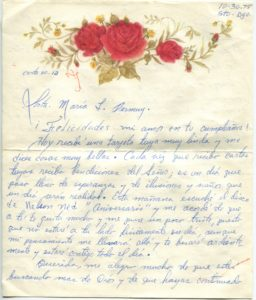 Letter from Silvio Veras to Maria 10-30-1975, page 1