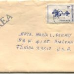 Letter envelope 11-17-1975 from Silvio Veras to Maria