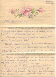 Letter from Silvio Veras to Maria 11-17-1975, page 1