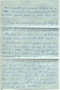 Letter from Silvio Veras to Maria 11-17-1975, page 3