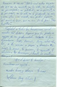 Letter from Silvio Veras to Maria 11-17-1975, page 4