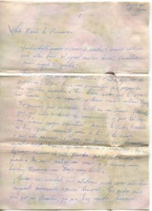 Letter from Silvio Veras to Maria 11-28-1975, page 1